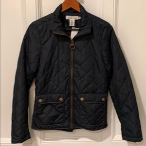 Navy Blue Lightweight Quilted Jacket